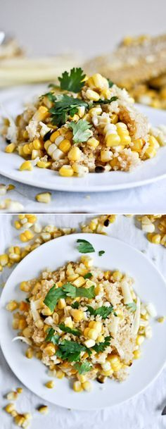 Grilled Corn and Cheddar Quinoa by @how sweet eats I howsweeteats.com