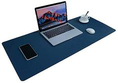 Desk Pad for Office Home 33 x 14,PU Leather Waterproof Large Desk Writing Mat Organizer,Multifunctional Ultra Thin Dual Use Desk Blotters Mouse Pad Protector Black