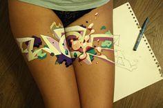 Simple Pair of Pleasures – read more @ http://www.juxtapoz.com/Graffiti/simple-pair-of-pleasures – #graffiti #wais #dropdeadlegs