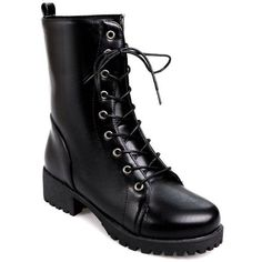 Women s Martin Boots Fashion Lacing Comfy All Match Boots ($52) ❤ liked on Polyvore featuring shoes, boots, rosegal, lace-up boots, laced up boots, laced boots, lacing boots and laced shoes