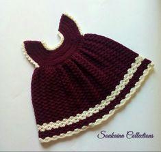 Little Princess Sara Crochet Baby Dress Free Patte Crochet Baby Dress Free Pattern, Baby Cardigan Knitting Pattern Free, Newborn Crochet Patterns, Baby Hats Knitting, Beanie Pattern, Hat Patterns, Crochet Toddler, Baby Girl Crochet, Crochet Baby Clothes