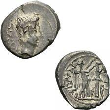 Augustus quinar carisius Emerita 25-23 p Carisi leg victoria tropaeum Ric 1a