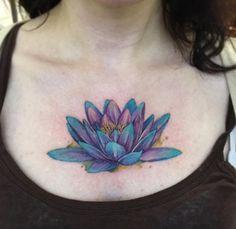 Lotus flower tattoo by june jung Lotus Flower Tattoo Meaning, Flower Of Life Tattoo, Lotus Flower Tattoo Design, Flower Tattoo Meanings, Flower Tattoos, Small Tattoos, Mandala Sternum Tattoo, Colour Tattoo For Women, Skin Color Tattoos