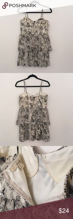 💕Cream & Black Paisley print babydoll dress💕 This is a size Large brand New never worn but with out tags great flirty fun babydoll dress. Its cream & black with a cream liner for full coverage. The back is zip up with clasp & there is a lightly padded built in bra. Great for many different occasions! ❤️ Forever 21 Dresses Mini