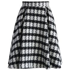 Chicwish Fancy Check Print Woolen Pleated Skirt ($45) ❤ liked on Polyvore featuring skirts, multi, black pleated skirt, dressy skirts, checkered skirt, pleated skirt and fancy skirts