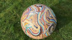 3D mosaic art sphere by Sue Kershaw, Mosaic Artist