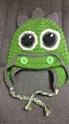 Free Crochet Pattern For Dinosaur Beanie : Kids Crochet Evil/Purple Minion Hat/Beanie photo by ...