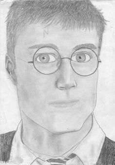 harry potter by carolehug on DeviantArt Bad Fan Art, Pencil Drawings, Harry Potter, Deviantart, Drawings In Pencil, Pencil Art
