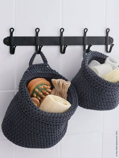 Who would have thought you could find so many farmhouse decorating items at IKEA? It's true, here are 40 farmhouse finds from IKEA. Ikea Bathroom, Small Bathroom Storage, Small Storage, Bathrooms, Bathroom Ideas, Diy Crochet Basket, Knit Basket, Diy Coat Rack, Diy Rack