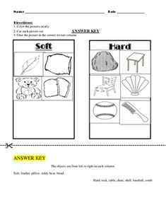 Texture Cut and Paste Sort - Soft and Hard by Stewarts Goodie Grab Bag Action Words, Cut And Paste, Grab Bags, Teacher Pay Teachers, Sorting, Science, Texture, Worksheets, English