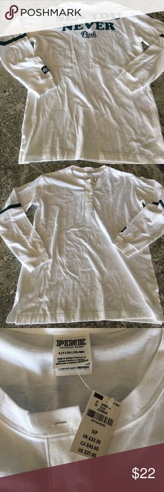 NWT! PINK by Victoria's Secret shirt! Super fun PINK by VS shirt, brand new with tags!! PINK Victoria's Secret Tops Tees - Long Sleeve