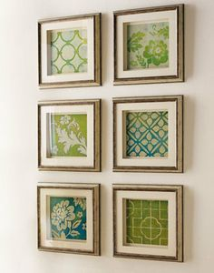 Frame pretty scrapbook paper // what a delicious idea!