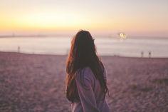 Pôr Do Sol, Mulher, Praia, Sunset Beach