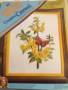 Vintage Erica Wilson Crewel Embroidery Kit  by PineStreetPickers