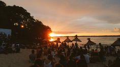 Atardecer en la Playa El Faro, durante el evento La Paz Rock. Enero 2016.