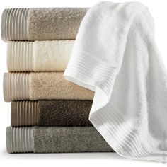 The Bamboo Basic Towel by Peacock Alley is a bamboo rayon and cotton terry towel embellished with a corded dobby border.