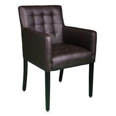 Mit seinen geraden Linien mit traditionellem Charme, hat der Rosana Arm Chair Lux Square Sessel einen dick gepolsterten Sitz und eine Rückenlehne, bedeckt mit einem weichen Bezug und eingedrückten Knöpfen. Ein eleganter Stuhl für elegante Plätze.