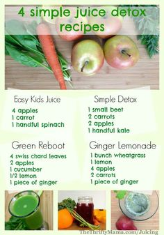 4 healthy juice recipes for detox