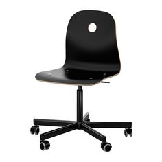 IKEA - VÅGSBERG & SPORREN, Swivel chair, birch veneer& , , You sit comfortably since the chair is adjustable in height. Ikea Office Chair, Cool Office Desk, Basement Office, Space Saving Desk, Chiropractic Office, Condo Furniture, Office Furniture, Simple Desk, Library Design