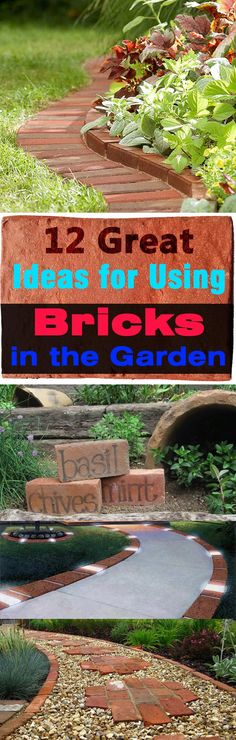 Bricks are one of the oldest materials we are still using, they are used in construction, but do you know using bricks in garden is possible, too. Garden, ideas. pation, backyard, diy, vegetable, flower, herb, container, pallet, cottage, secret, outdoor, cool, for beginners, indoor, balcony, creative, country, countyard, veggie, cheap, design, lanscape, decking, home, decoration, beautifull, terrace, plants, house.