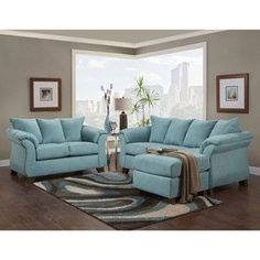 SOFA TRENDZ Cailyn Sofa/ Chaise | Overstock.com Shopping - The Best Deals on Sectional Sofas