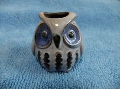 White Horned Owl Toothpick Holder Japanese pottery Seto-yaki Japan