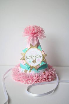 Twinkle Star Party Hat First Birthday