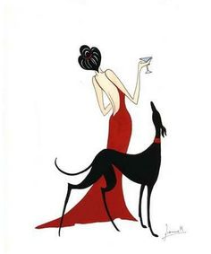 Lady with greyhound - Elisabeth §♥ (don't know where this is from or who's art it is.)