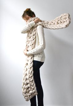 d1cfe9b5404f65 Handmade Oversized Scarves   Chunky Blankets In love with knitting since my  childhood