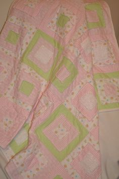 Square baby rag quilt that Amy made