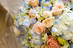 Key West wedding | Flowers | JHunter Photography  Switch out the blue for coral!