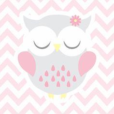 coruja, corujinha, rosa, cinza, rosa e cinza, xevron, zigue zague, quarto menina, infantil, menina, decoração infantil, quarto cinza e rosa, quarto rosa, animal, coruja cinza, coruja rosa,decoração corujinha, - CORUJA FOFA