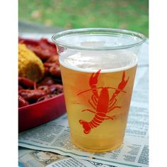 16oz Disposable Crawfish Cups (50) and other supplies
