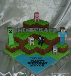 Posts about minecraft cake singapore written by inacakes Minecraft Party, Bolo Minecraft, Minecraft Birthday Cake, Minecraft Awesome, 6th Birthday Parties, Birthday Cupcakes, 7th Birthday, Birthday Ideas, Mindcraft Cakes