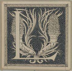 Capital letter L by James Joseph Jacques Tissot (1836–1902)