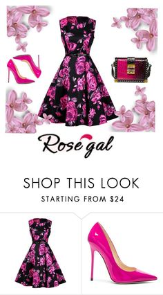 """""""Flowers,spring,love"""" by amela83 ❤ liked on Polyvore featuring Jimmy Choo and MCM"""