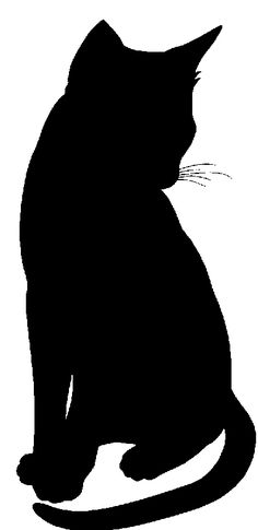 silhouettes of cat graphics - Google Search