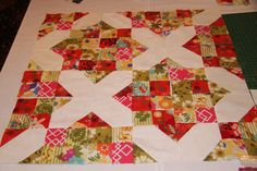 One of many ideas in Carolyn Beam's class on using charm squares at QM's Block Party