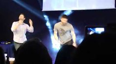 JIBCon2015 - Felicia asks Misha and Jensen to show her a Dean and Cas dance-off :)