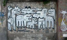 graffiti arte callejero de la calle exposición en santiago de chile