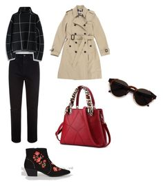 """""""Chic urban -65-"""" by sol-espina on Polyvore featuring moda, Burberry, New Look, AG Adriano Goldschmied, Chicwish y RetroSuperFuture"""