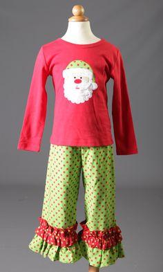CM Polka Dot Santa Pants Set www.facebook.com/Southerntots