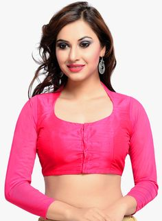 6a6d2bd3db52d0 Pink Color Banglori silk Plain Unstiched Blouse Materieals at Rs. 333