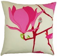 Marimeko magnolia bloom print. Not wild about this as a pillow, but love the fabric print.