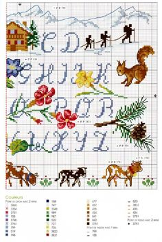 ABC cross stitch pattern