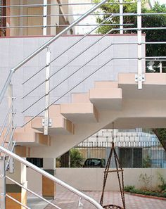 Balustrade Systems MABL 060-  This one goes a step beyond in terms of looks and style. It enhances the look of the area in more ways than one. Its elegant and simple looks gives your exteriors a feel of richness and the pride of being associated with Technoraill.  -High on style and class -Strong and durable Pride, Stairs, Strong, Exterior, Elegant, Simple, Home Decor, Classy, Stairway