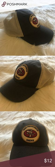 SF 49ers SnapBack Hat San Francisco 49ers hat by Mitchell & Ness vintage collection, mesh adjustable hat. In great used condition. Mitchell & Ness Accessories Hats