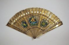 Responsible Fine Antique French Carved Horn Hand Painted Gold Gilded Brise Fan Other Antique Decorative Arts Antiques