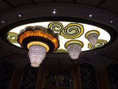 The atrium chandelier on the re-imagined Magic