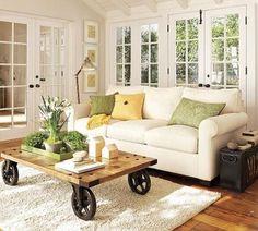 Salontafel op wielen | Inrichting-huis.com
